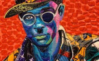 Artista crea colorate trapunte con ritratti usando stoffe africane
