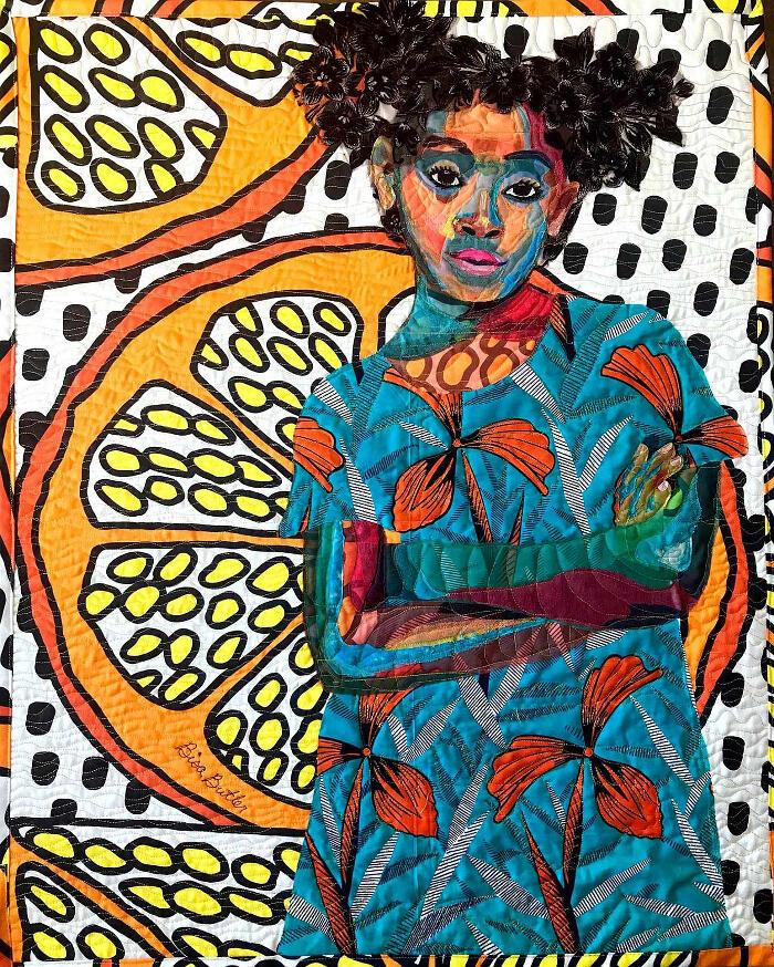 Colorati ritratti in tessuto trapuntato di Bisa Butler
