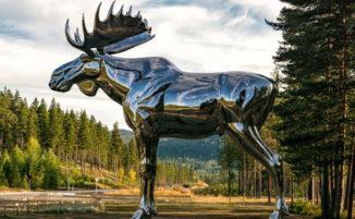 La Norvegia ha costruito la più grande statua di alce del mondo per proteggere questi animali