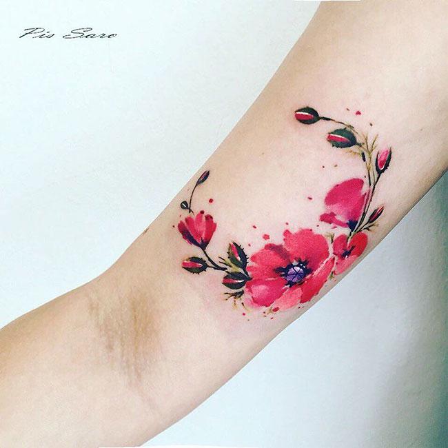 Tatuaggi Femminili Floreali Pis Saro