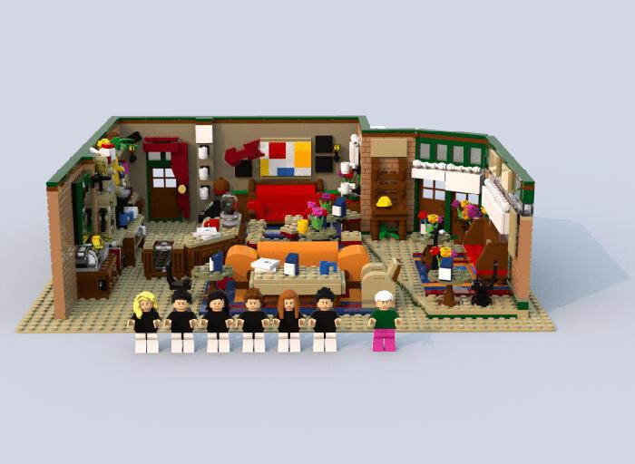 Il coffee shop Central Perk di Friends fatto con i LEGO