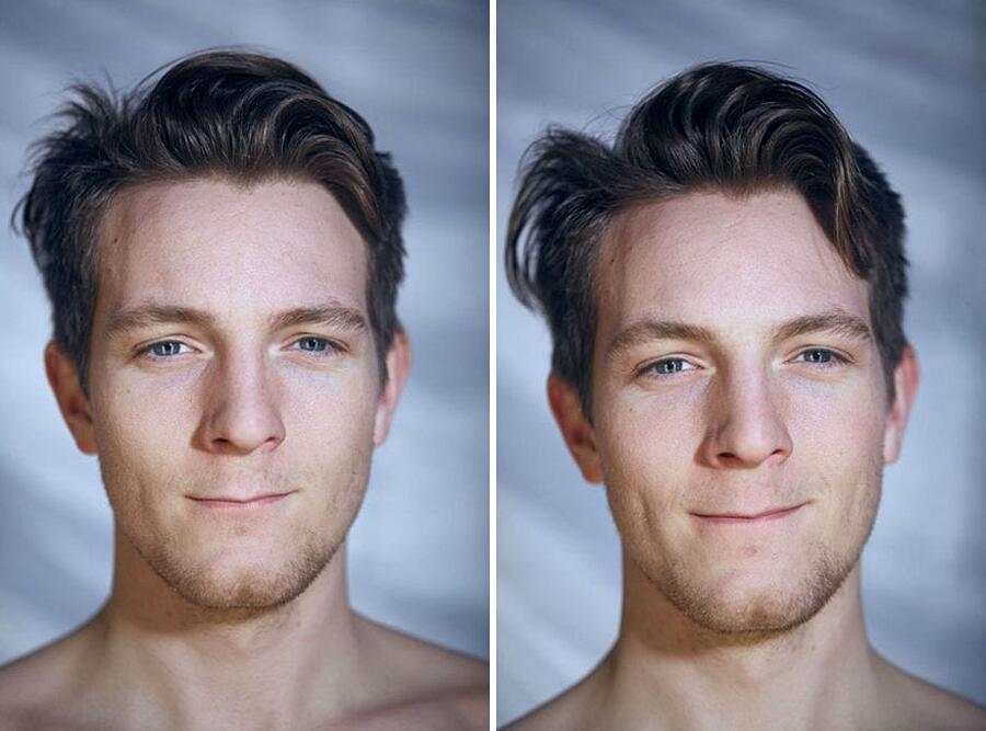 Come Cambiano I volti Dei Modelli Fotografati Nudi Dylan Hamm