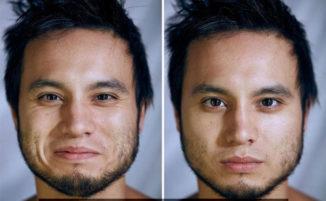 Cattura il cambiamento inconscio nel volto dei modelli quando vengono fotografati nudi