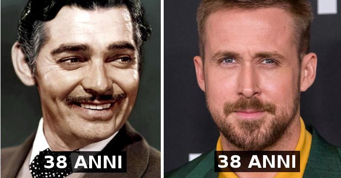 Attori di ieri e di oggi messi a confronto alla stessa età