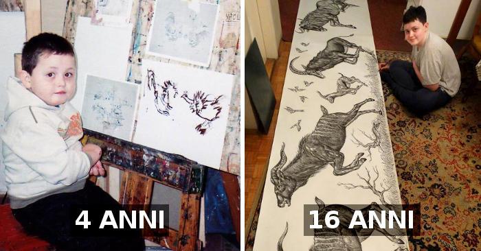 Inizia a disegnare a 2 anni, oggi ha 16 anni e questi sono i suoi incredibili disegni
