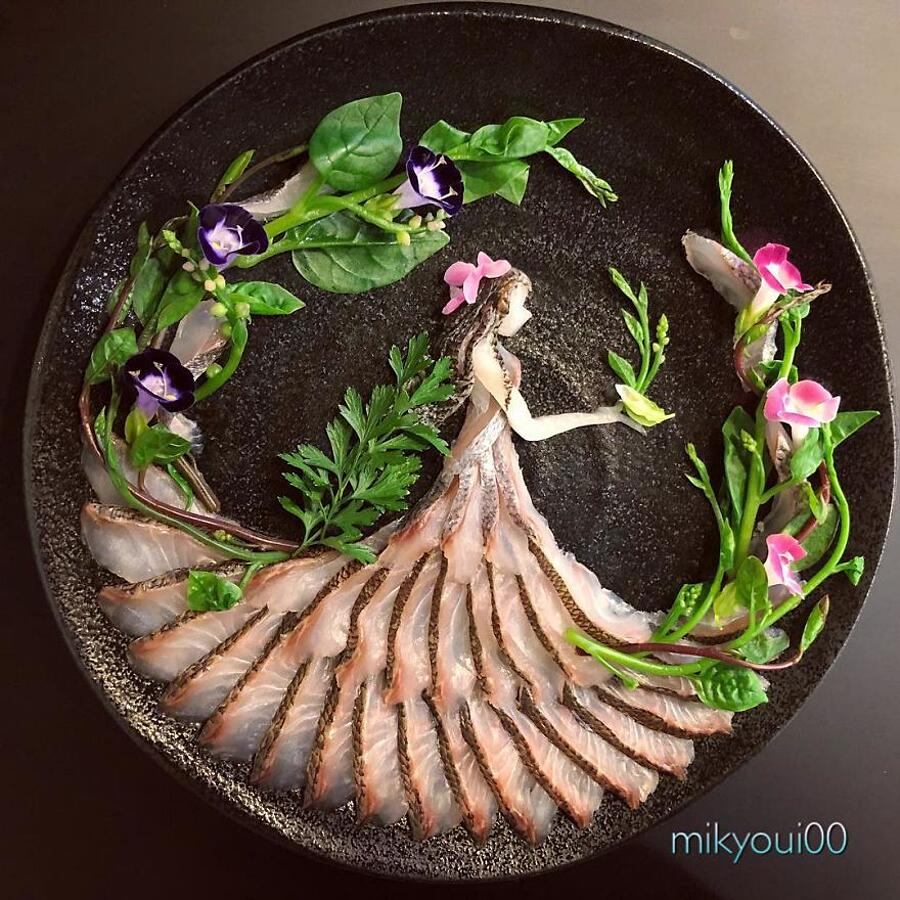Food Art Sashimi Mikyou