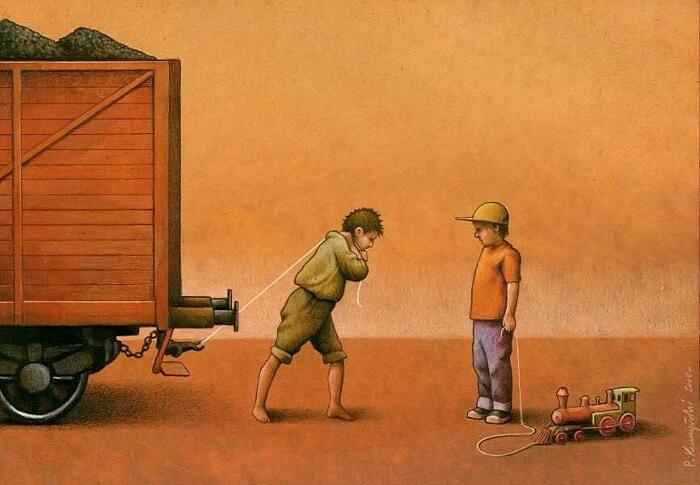 Illustrazioni Problemi Società Mondo