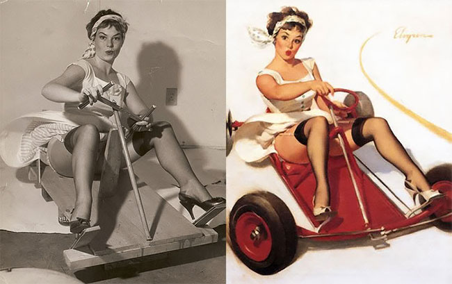Vere Donne Pin Up Dipinti Gil Elvgre