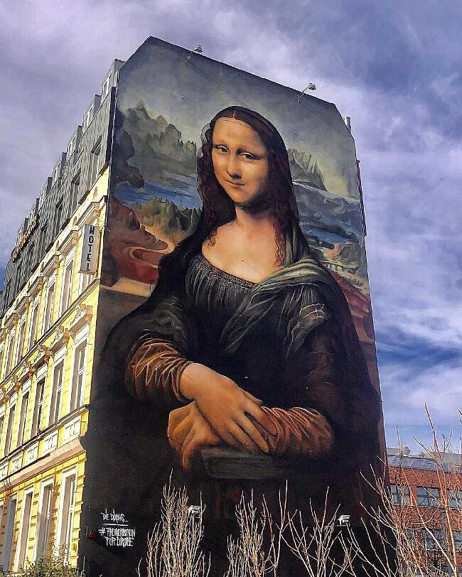 Murale Riproduce Gioconda Die Dixons Berlino