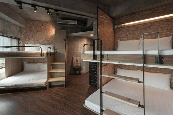 Ostello Wow Hostel a Hualian, Taiwan, usa materiali riciclati