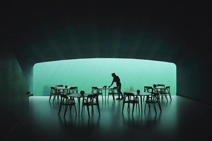 Il primo ristorante sott'acqua in Europa è anche un centro di ricerca marino
