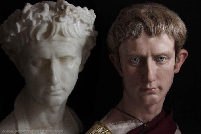 Artista riporta in vita gli imperatori romani con le sue realistiche sculture