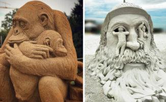 26 meravigliose sculture fatte con la sabbia