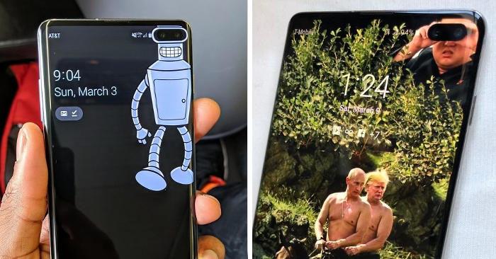 20 sfondi creativi usati per nascondere la fotocamera del nuovo Samsung Galaxy S10