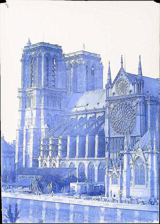 Foto Rare Notre Dame 1800 Parigi