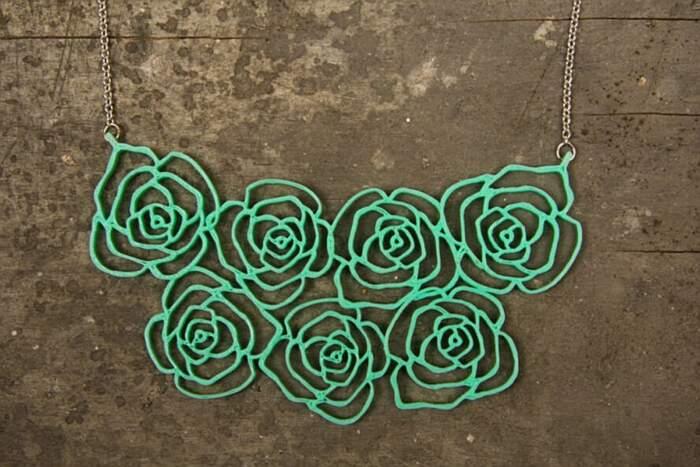 Gioielli stampati in 3D fatti di piante invece che di plastica