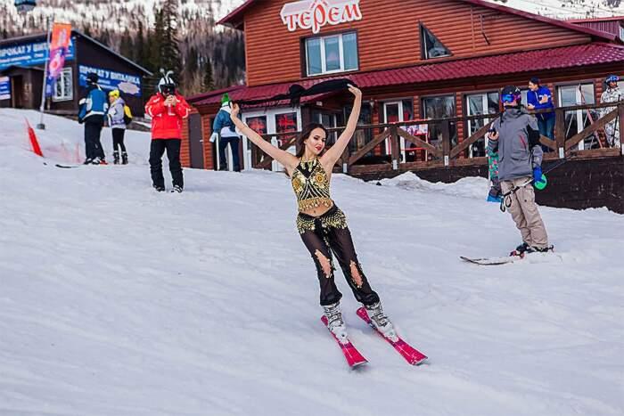 Festival sci in bikini belle ragazze, Grelka Fest 2019 Russia