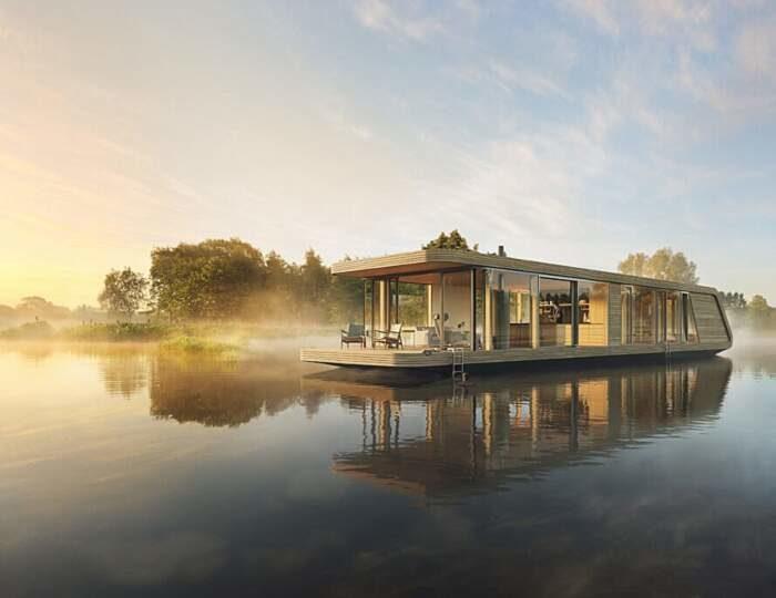 Una casa galleggiante ad energia solare per gli amanti dell'avventura