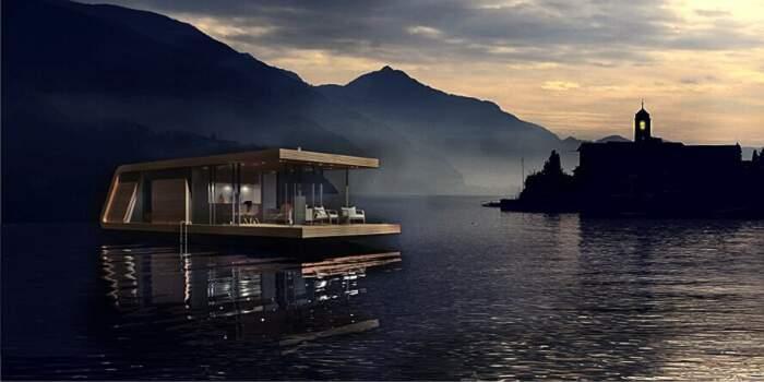 Una casa galleggiante ad energia solare di +31Architects