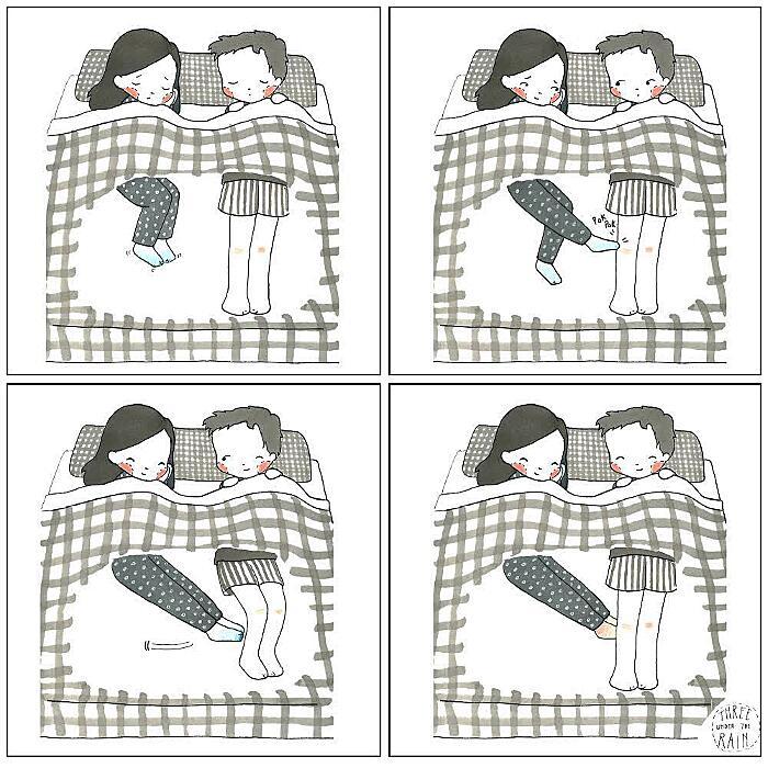 Illustrazioni Coppia Amore Bellezza Piccole Cose