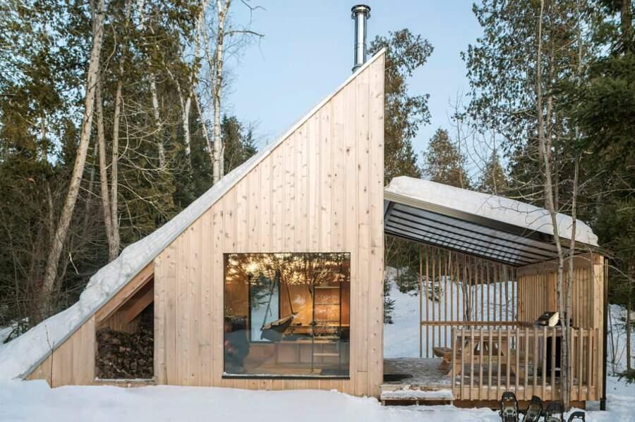 Una micro casa autosufficiente perfetta per gli amanti della natura