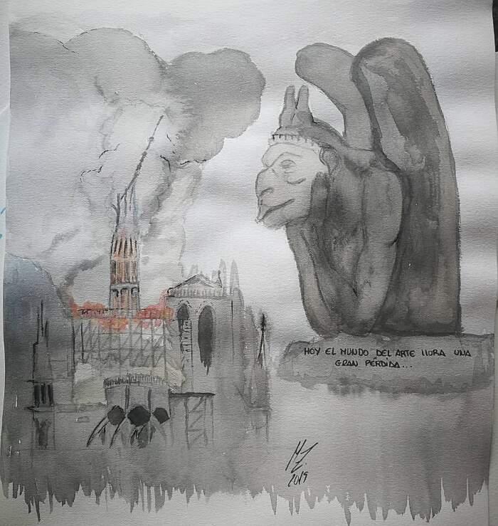 Artisti da tutto il mondo rendono omaggio alla cattedrale di Notre Dame a Parigi dopo l'incendio