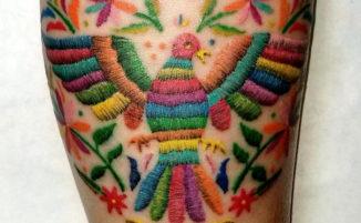 60 tatuaggi colorati in stile ricamo