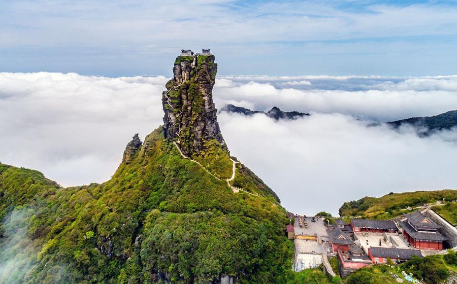 Templi Buddisti Monte Fanjingshan Cina