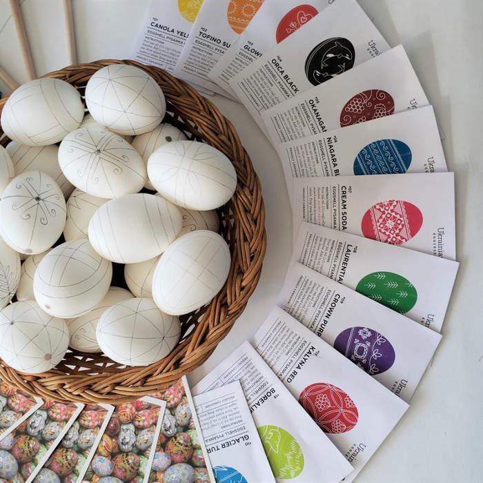 Pisanka, uova di Pasqua Est Europa ucraine decorate fai da te, pysanky