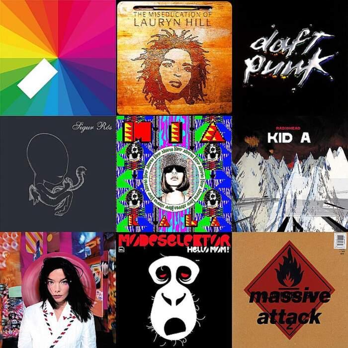 Copertine di album musicali trasformati in oggetti comuni da Alessio Bichi