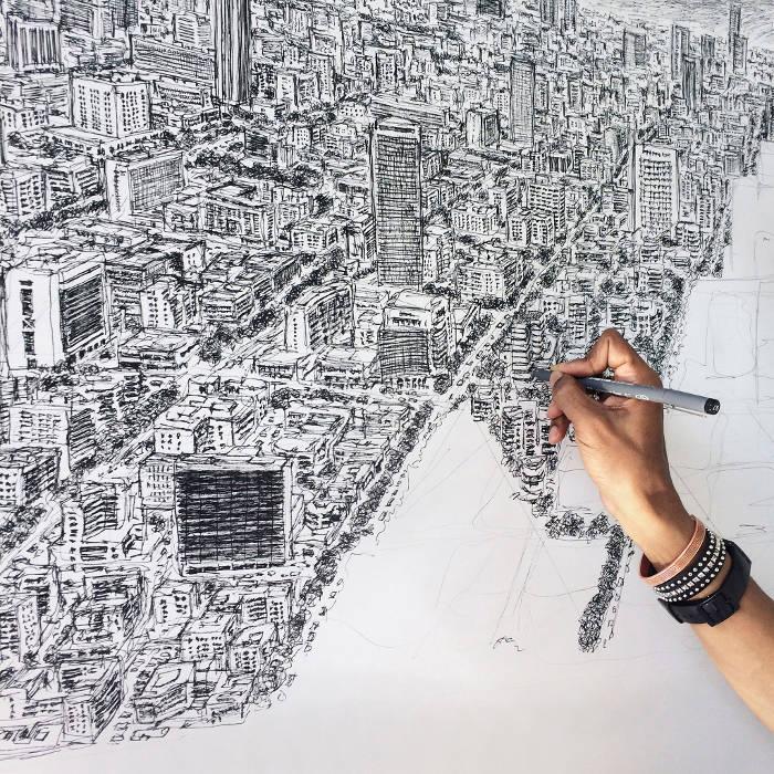 Artista autistico disegna accuratamente intere città a memoria, Stephen Wiltshire - Città del Messico