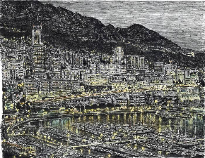 Artista autistico disegna accuratamente intere città a memoria, Stephen Wiltshire - Montecarlo
