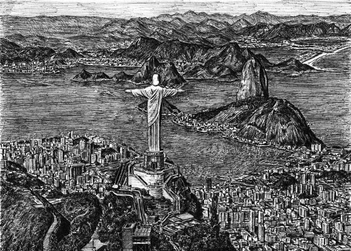 Artista autistico disegna accuratamente intere città a memoria, Stephen Wiltshire - Rio de Janeiro