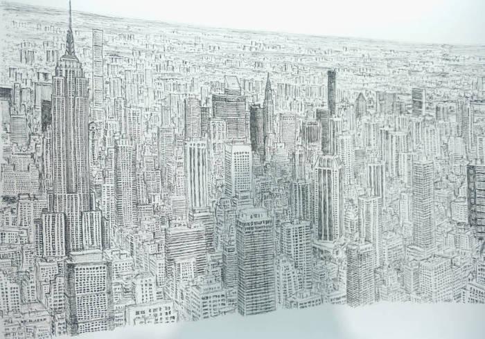 Artista autistico disegna accuratamente intere città a memoria, Stephen Wiltshire - New York