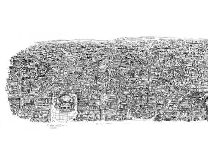 Artista autistico disegna accuratamente intere città a memoria, Stephen Wiltshire - Roma