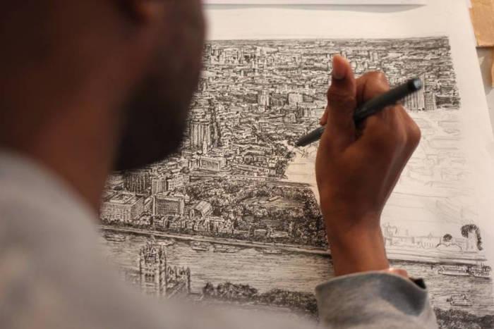 Artista autistico disegna accuratamente intere città a memoria, Stephen Wiltshire - Londra