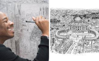 Artista autistico disegna accuratamente intere città a memoria: la storia di Stephen Wiltshire