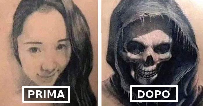 31 persone che hanno coperto il tatuaggio dell'ex dopo che le cose sono andate male