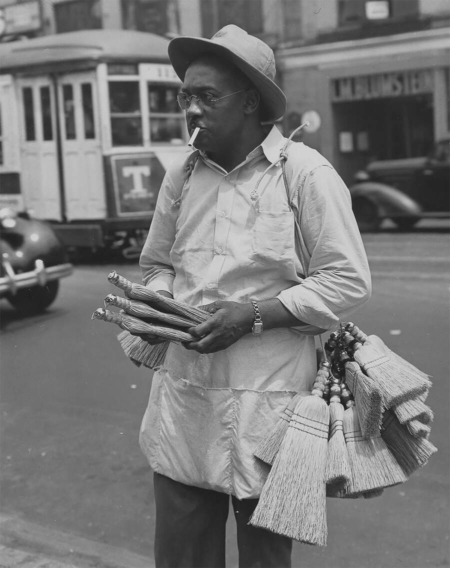 Foto in bianco e nero di New York anni 40, Todd Webb