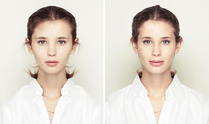 Una serie fotografica mostra che un viso simmetrico non è automaticamente più bello