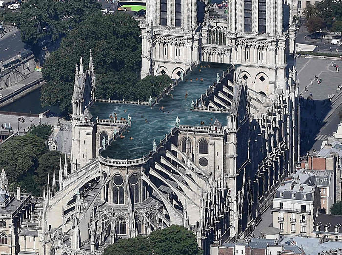 9 proposte di design per ricostruire Notre Dame davvero assurde