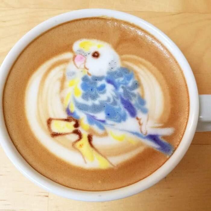 Artista decora cappuccini e latte macchiati con uccelli grazie alla sua latte art