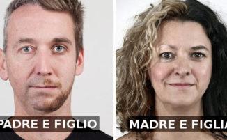 Ritratti affiancati di membri della stessa famiglia dimostrano che col DNA non si scherza