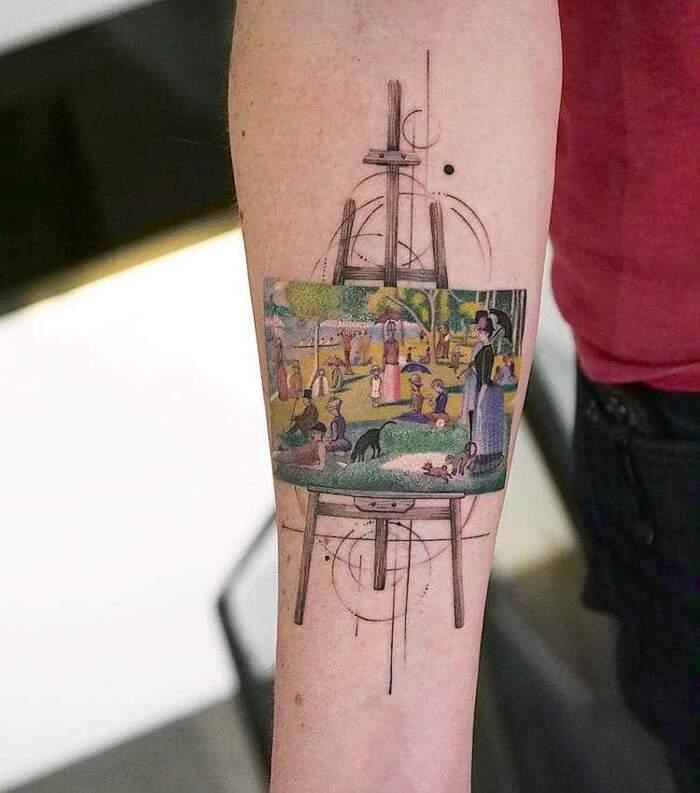 Tatuaggi che riproducono famosi dipinti della storia dell'arte, Eva Karabudak