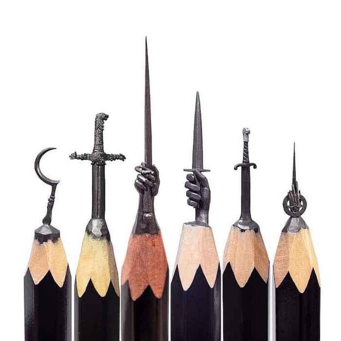 Game of Thrones, Trono di Spade sculture su punte di matite di Salavat Fidai