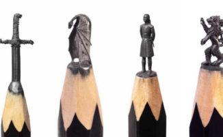 Incredibili micro sculture de Il Trono di Spade create sulle punte delle matite