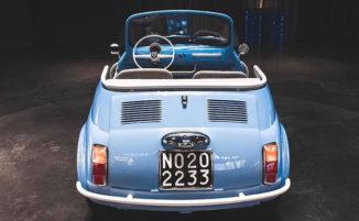 Fiat 500 d'epoca diventa un veicolo elettrico moderno