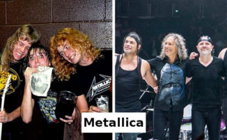 """20 foto """"Prima e Dopo"""" di band leggendarie"""
