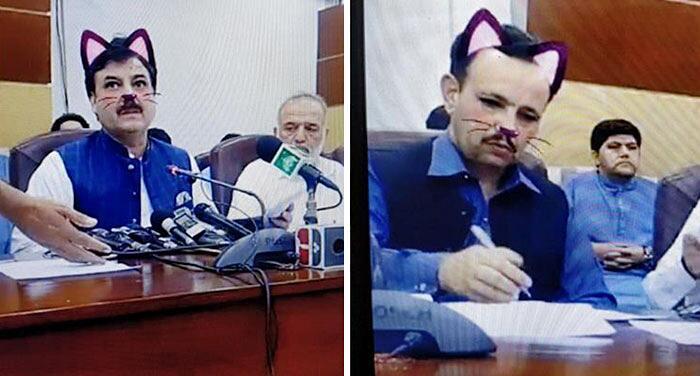 Funzionari Governativi Pakistani Attivano Filtro Con Gatto In Diretta Facebook