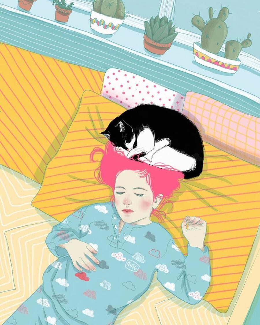 Illustrazioni Gatti Margherita Grasso